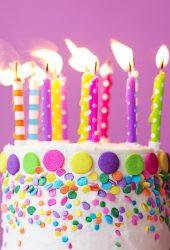 誕生日ケーキiPhoneX壁紙