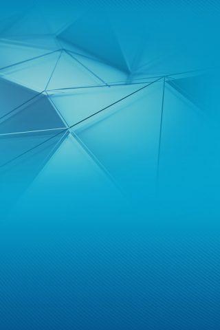 ブルー3D三角形iPhone XR壁紙