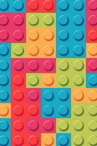 レゴブロックレインボーアートパターンパステルiPhone XS Max壁紙