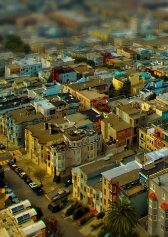 カリフォルニア州サンフランシスコチルトシフトシティスケープiPhone6壁紙