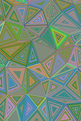 抽象三角形iPhone XS Max壁紙