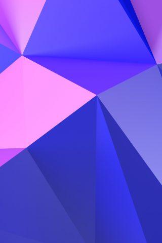 抽象的な紫の三角iPhone XS Max壁紙