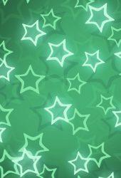 シャイニースターズグリーンパターンiPhone6壁紙