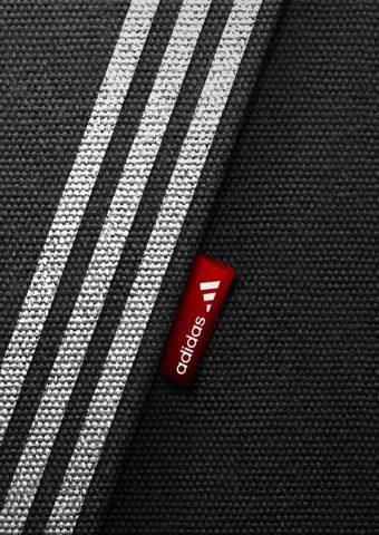 アディダスブラックブランドロゴスポーツミニマリズムiPhone8壁紙