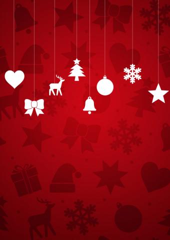 クリスマスオーナメントiPhone5壁紙