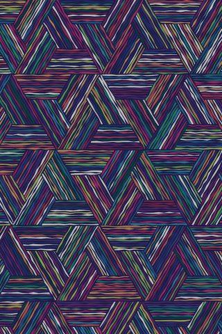 トライアングル色付きの線デジタルアートパターンiPhone6Plus壁紙
