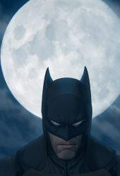 バットマンと月iPhone5壁紙