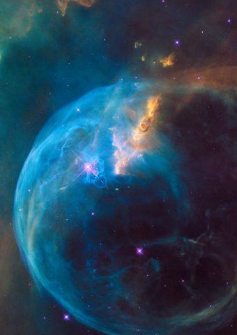スペース、星雲と宇宙iPhone 8 Plus壁紙