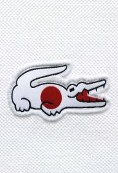 ラコステブランドロゴジャパンフラッグiPhone6Plus壁紙