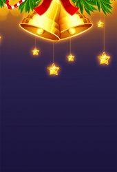 クリスマスベルの装飾イラストiPhone5壁紙