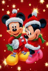ミッキーマウスとミニークリスマスiPhone5壁紙