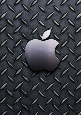 メタリック柄アップルロゴiPhone6壁紙