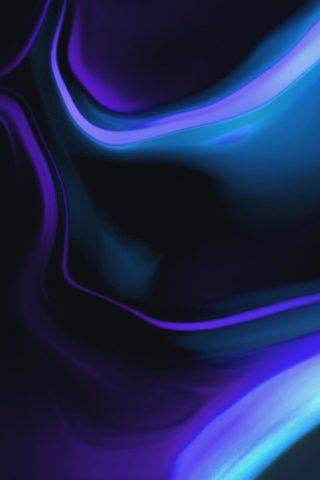 抽象的な波パープルブルーiPhoneXR壁紙