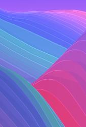 抽象的な色の波iPhoneX壁紙