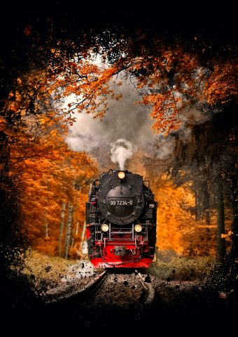 蒸気機関車iPhone 8 Plus壁紙