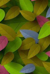 カラフルな葉iPhone XR壁紙