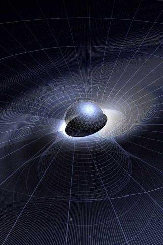ブラックホール重力イラストiPhone 8 Plus壁紙
