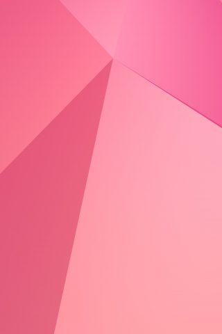 抽象的なピンクの三角形iPhoneX壁紙