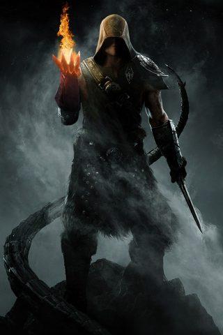 『The Elder Scrolls V Skyrim』(ジ・エルダー・スクロールズ・ファイブ・スカイリム)iPhone 5/Android壁紙