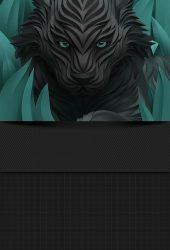 ブラックウルフiPhone/Android壁紙