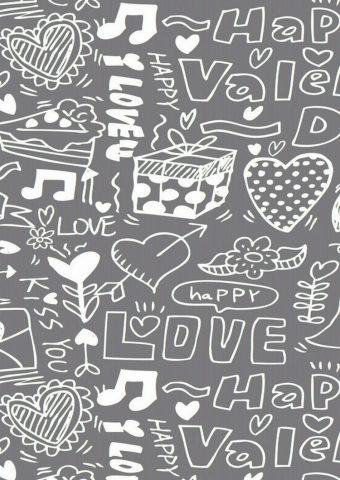 ラブハピネス落書きiPhone 6/Android壁紙