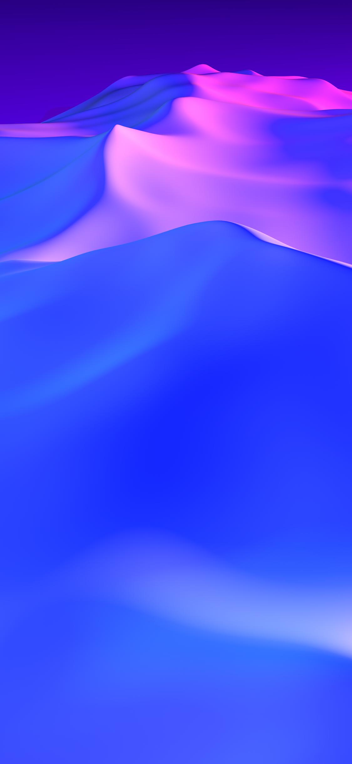 抽象的なパープルデューンズiphone Xs Android壁紙 1125 2436