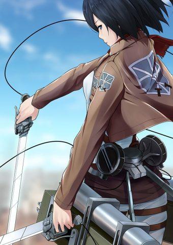 進撃の巨人ミカサ・アッカーマンiPhone 6/Android壁紙