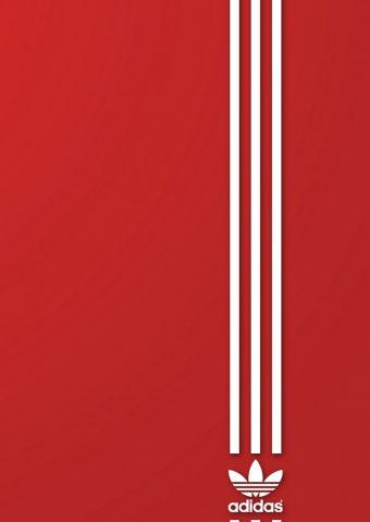 アディダススポーツレッドロゴiPhone 6/Android壁紙