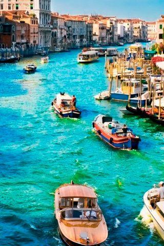 ヴェネツィアの晴れた日iPhone 6/Android壁紙
