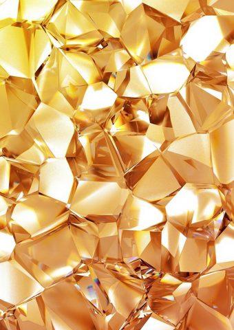 幾何学的なゴールドダイヤモンドiPhone 6/Android壁紙