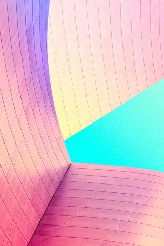 近代的な建物カラフルな壁iPhone 7 Plus/Android壁紙