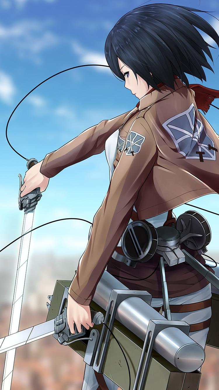 進撃の巨人ミカサ アッカーマンiphone 6 Androidアニメ壁紙 Iphoneチーズ