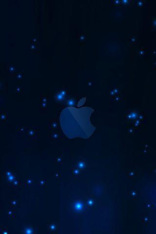 【Apple】アップルダークブルーロゴiPhone 8 Plus/Android壁紙