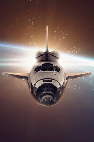 スペースシャトルiPhone 8 Plus/Android壁紙