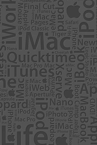 「Apple」アップルタイポグラフィiPhone 8 Plus/Android壁紙