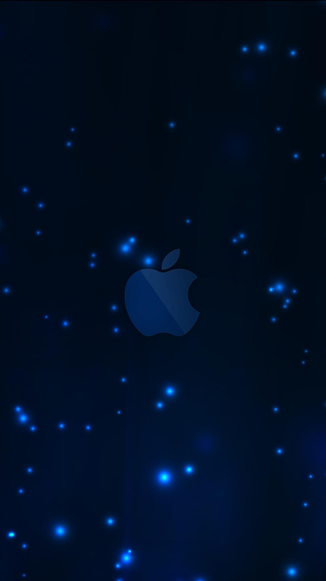 Apple アップルダークブルーロゴiphone 8 Plus Android壁紙 Iphoneチーズ