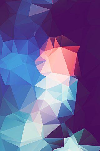 抽象的な三角形のカラフルなレンダリングiPhone 8 Plus/Android壁紙