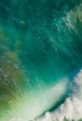 iOSの10水しぶきウェーブデフォルトiPhone 8 Plus/Android壁紙