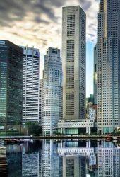 超高層ビルのアーキテクチャiPhone XR/Android壁紙