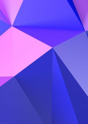 抽象パープル・トライアングルiPhone X/Android壁紙