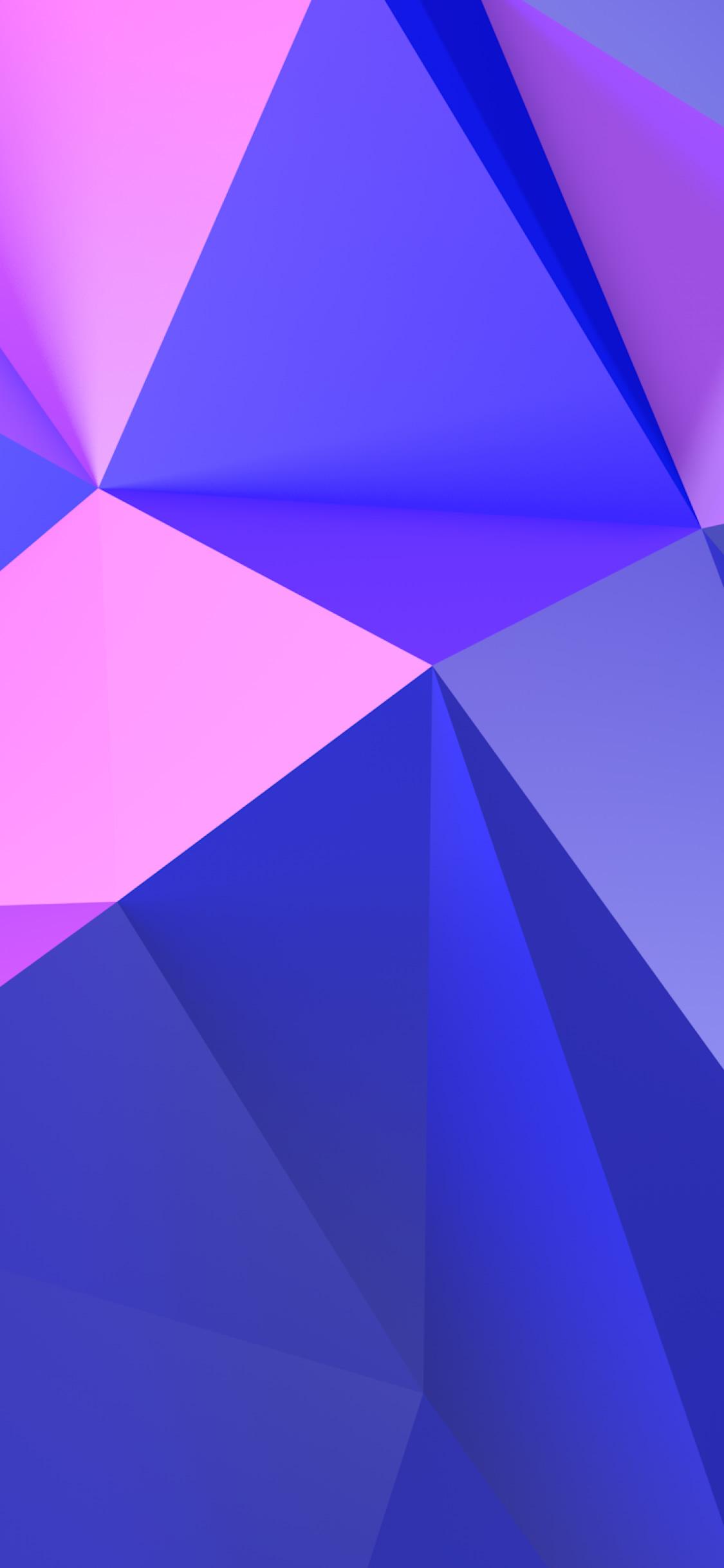 抽象パープル トライアングルiphone X Android壁紙 1125 2436