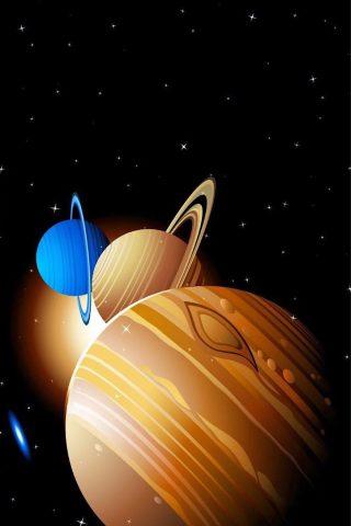 惑星のパレードiPhone XR/Android壁紙