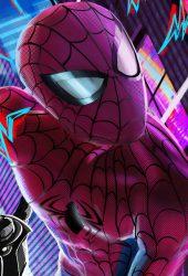 スパイダーマン: スパイダーバースiPhone 8 Plus/Android壁紙