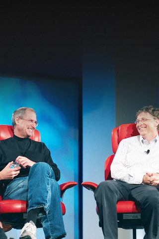 スティーブ・ジョブズとビル・ゲイツiPhone 5/Android壁紙