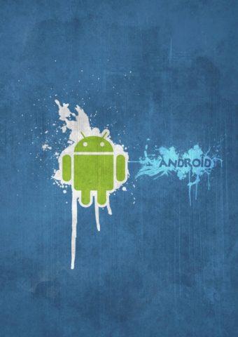 AndroidネイビーブルーiPhone 8 Plus壁紙