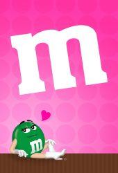 グリーンM&M'S(エムアンドエムズ) iPhone 7 Plus/Android壁紙