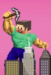 「Minecraft」マインクラフトビッグスティーブiPhone 6/Android壁紙