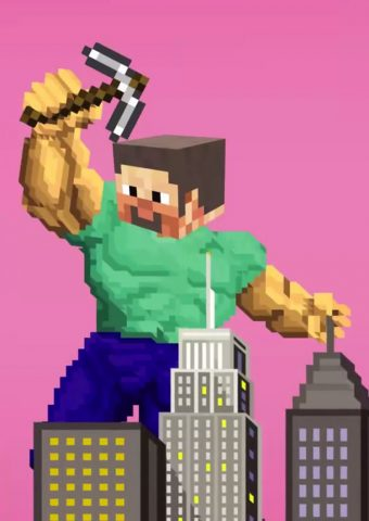 「Minecraft」マインクラフトビッグスティーブ壁紙