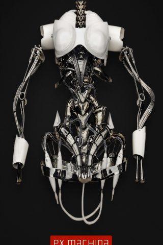 エクス・マキナ映画ポスターロボットスケルトンiPhone 8 Plus/Android壁紙