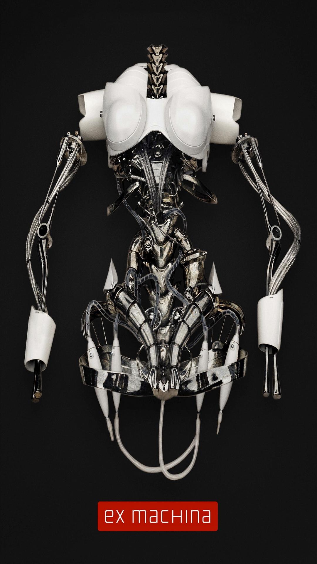 エクス マキナ映画ポスターロボットスケルトンiphone 8 Plus Android